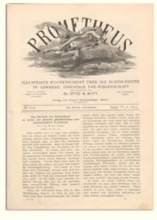 Prometheus : Illustrirte Wochenschrift über die Fortschritte in Gewerbe, Industrie und Wissenschaft. 6. Jahrgang, 1895, Nr 276