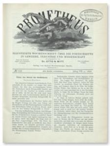 Prometheus : Illustrirte Wochenschrift über die Fortschritte in Gewerbe, Industrie und Wissenschaft. 7. Jahrgang, 1896, Nr 336