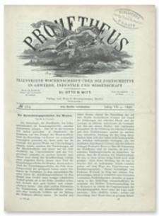 Prometheus : Illustrirte Wochenschrift über die Fortschritte in Gewerbe, Industrie und Wissenschaft. 7. Jahrgang, 1896, Nr 354