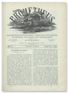 Prometheus : Illustrirte Wochenschrift über die Fortschritte in Gewerbe, Industrie und Wissenschaft. 7. Jahrgang, 1896, Nr 363