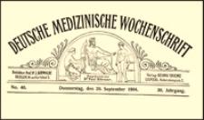 Einiges über Naht und Nahtmaterial, Deutsche Medizinische Wochenschrift, 1904, Jg. 30, No. 40, S. 1463-1465