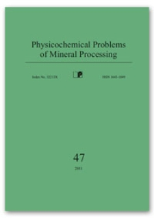Physicochemical Problems of Mineral Processing, nr 47 (2011)