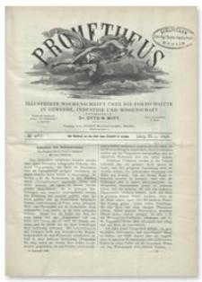 Prometheus : Illustrirte Wochenschrift über die Fortschritte in Gewerbe, Industrie und Wissenschaft. 9. Jahrgang, 1898, Nr 467