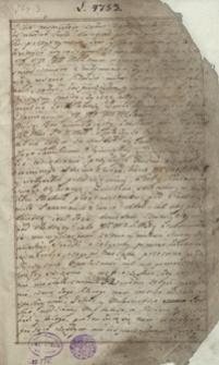 [Miscellanea historyczne i literackie odnoszące się do XVII i XVIII wieku]