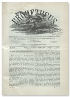 Prometheus : Illustrirte Wochenschrift über die Fortschritte in Gewerbe, Industrie und Wissenschaft. 10. Jahrgang, 1899, Nr 499
