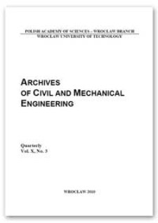 Archives of Civil and Mechanical Engineering, Vol. 10, 2010, Nr 3