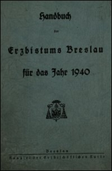 Handbuch des Erzbistums Breslau für das Jahr 1940