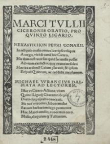 Marci Tulli Ciceronis Oratio Pro Quinto Ligario