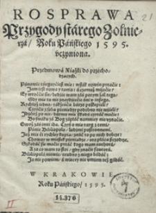 Rosprawa Przygody starego Żołnierza Roku Pańskiego 1595 uczyniona