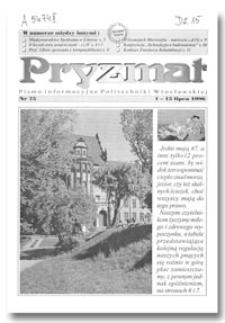 Pryzmat : Pismo Informacyjne Politechniki Wrocławskiej. 1-15 lipca 1996, nr 75