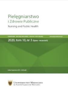 Pielęgniarstwo i Zdrowie Publiczne = Nursing and Public Health, 2020, Vol. 10, nr 3