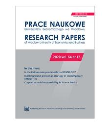 Spis treści [Prace Naukowe Uniwersytetu Ekonomicznego we Wrocławiu = Research Papers of Wrocław University of Economics; 2020; vol. 64, nr 12]