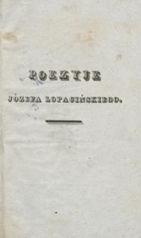 Poezyje Józefa Łopacińskiego
