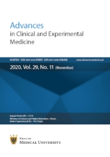 Advances in Clinical and Experimental Medicine, Vol. 29, 2020, nr 11