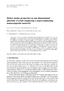 Defect modes properties in one-dimensional photonic crystals employing a superconducting nanocomposite material