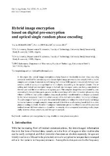 Hybrid image encryption based on digital pre-encryption and optical single random phase encoding