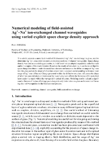 Numerical modeling of field-assisted Ag+-Na+ ion-exchanged channel waveguides using varied explicit space charge density approach