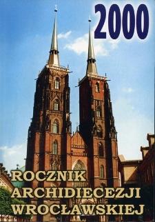 Rocznik Archidiecezji Wrocławskiej. 2000