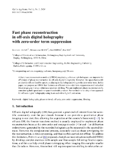 Fast phase reconstruction in off-axis digital holography with zero-order term suppression