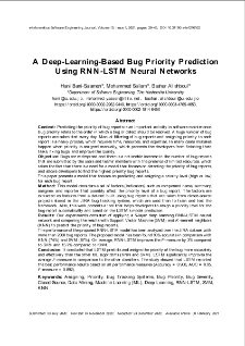 A Deep-Learning-Based Bug Priority Prediction Using RNN-LSTM Neural Networks