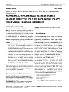 Numerical 3D simulations of seepage and the seepage stability of the right-bank dam of the Dry Flood Control Reservoir in Racibórz