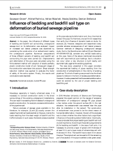 Influence of bedding and backfill soil type on deformation of buried sewage pipeline