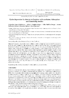 Pyrite depression by dextrin in flotation with xanthates. Adsorption and floatability studies