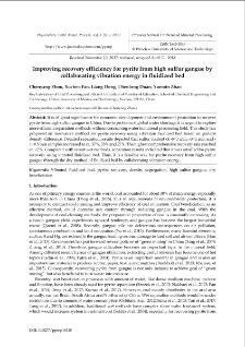 Improving recovery efficiency for pyrite from high sulfur gangue by collaborating vibration energy in fluidized bed
