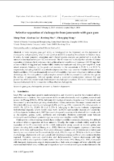 Selective separation of chalcopyrite from jamesonite with guar gum
