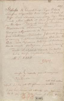 Statuta inclyti Regni Poloni[a]e recens recognita emendata