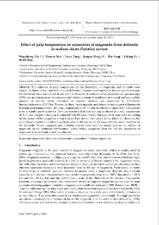 Effect of pulp temperature on separation of magnesite from dolomite in sodium oleate flotation system