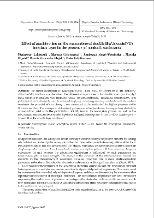Effect of azathioprine on the parameters of double Hg/chlorate(VII) interface layer in the presence of nonionic surfactants