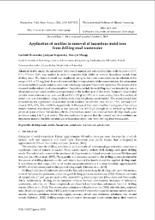 Application of zeolites in removal of hazardous metal ions from drilling mud wastewater