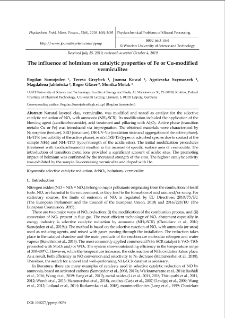 The influence of holmium on catalytic properties of Fe or Cu-modified vermiculites