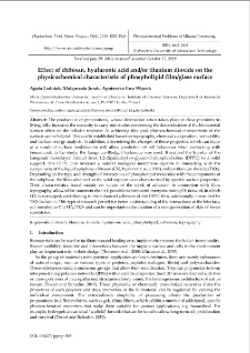 Effect of chitosan, hyaluronic acid and/or titanium dioxide on the physicochemical characteristic of phospholipid film/glass surface