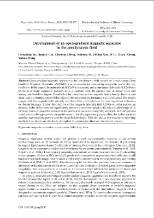 Development of an open-gradient magnetic separator in the aerodynamic field