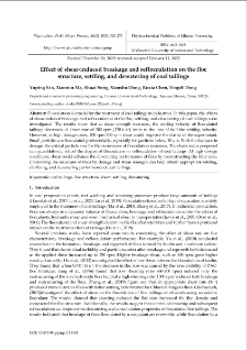 Effect of shear-induced breakage and reflocculation on the floc structure, settling, and dewatering of coal tailings