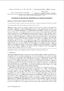 Evolution of droplet size distribution in selected nebulizers