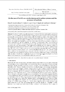On the use of Na2SO3 as a pyrite depressant in saline systems and the presence of kaolinite