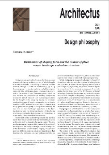 Distinctness of shaping form and the context of place - open landscape and urban structure