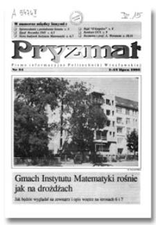 Pryzmat : Pismo Informacyjne Politechniki Wrocławskiej. 1-15 lipca 1995, nr 54
