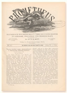 Prometheus : Illustrirte Wochenschrift über die Fortschritte in Gewerbe, Industrie und Wissenschaft. 11. Jahrgang, 1899, Nr 523