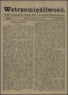 """Wstrzemięźliwość : dodatek miesięczny do """"Posłańca Niedz."""" dla Bractwa Wstrzemięźliwości. R. 3 (1902), nr 7"""