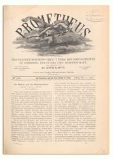 Prometheus : Illustrirte Wochenschrift über die Fortschritte in Gewerbe, Industrie und Wissenschaft. 12. Jahrgang, 1901, Nr 596