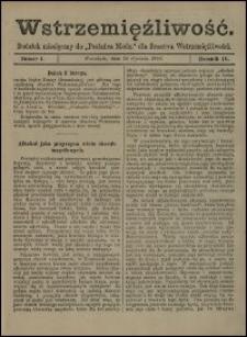 """Wstrzemięźliwość : dodatek miesięczny do """"Posłańca Niedz."""" dla Bractwa Wstrzemięźliwości. R. 4 (1903), nr 12"""