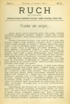 Ruch :  dwutygodnik, poświęcony sprawom wychowania fizycznego i w ogóle normalnego rozwoju ciała, 1906.06.11 R. 1 nr 3