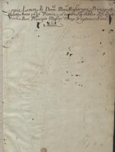 Lettere di Dominico Mar. Migliorucci [listy bankiera pisane z Krakowa z lat 1696-1700]