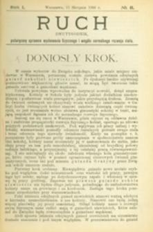 Ruch :  dwutygodnik, poświęcony sprawom wychowania fizycznego i w ogóle normalnego rozwoju ciała, 1906 R. 1 nr 8