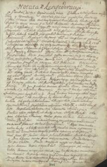 Manuskrypt w. jmp. Woyciecha Rosnowskiego, podczaszego ziemi przemyskiej, in anno 1765 spisany, zawierający w sobie tak stylem polskim jako y łacińskim wiersze zabawne y notaty niektóre potrzebne