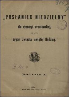 Posłaniec Niedzielny dla Dyecezyi Wrocławskiej. R. 10, 1904, nr 18